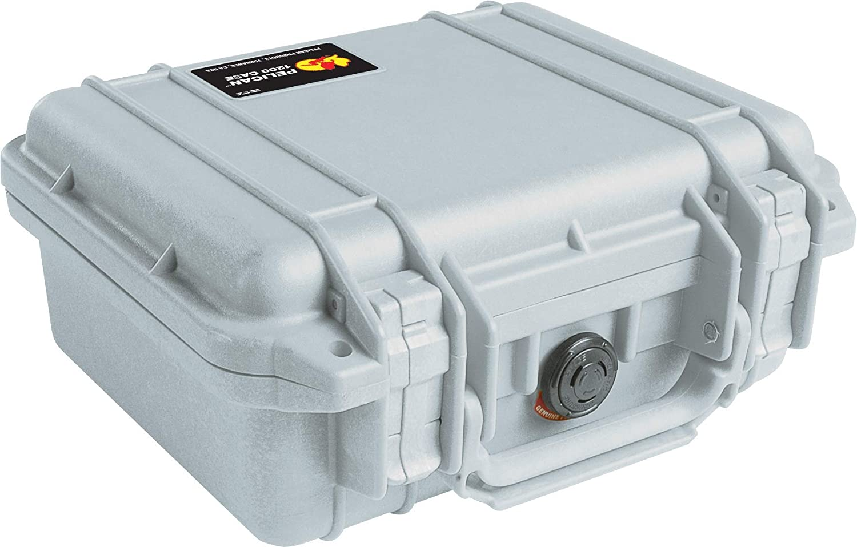 PELICAN ハードケース 1200 シルバー 4.4L 防水 シルバー 012137  シルバー B00009UT99
