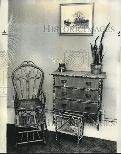 1976 Press Photo Wicker Furniture Made By Mike Knowles Of Golden Age  Antiques