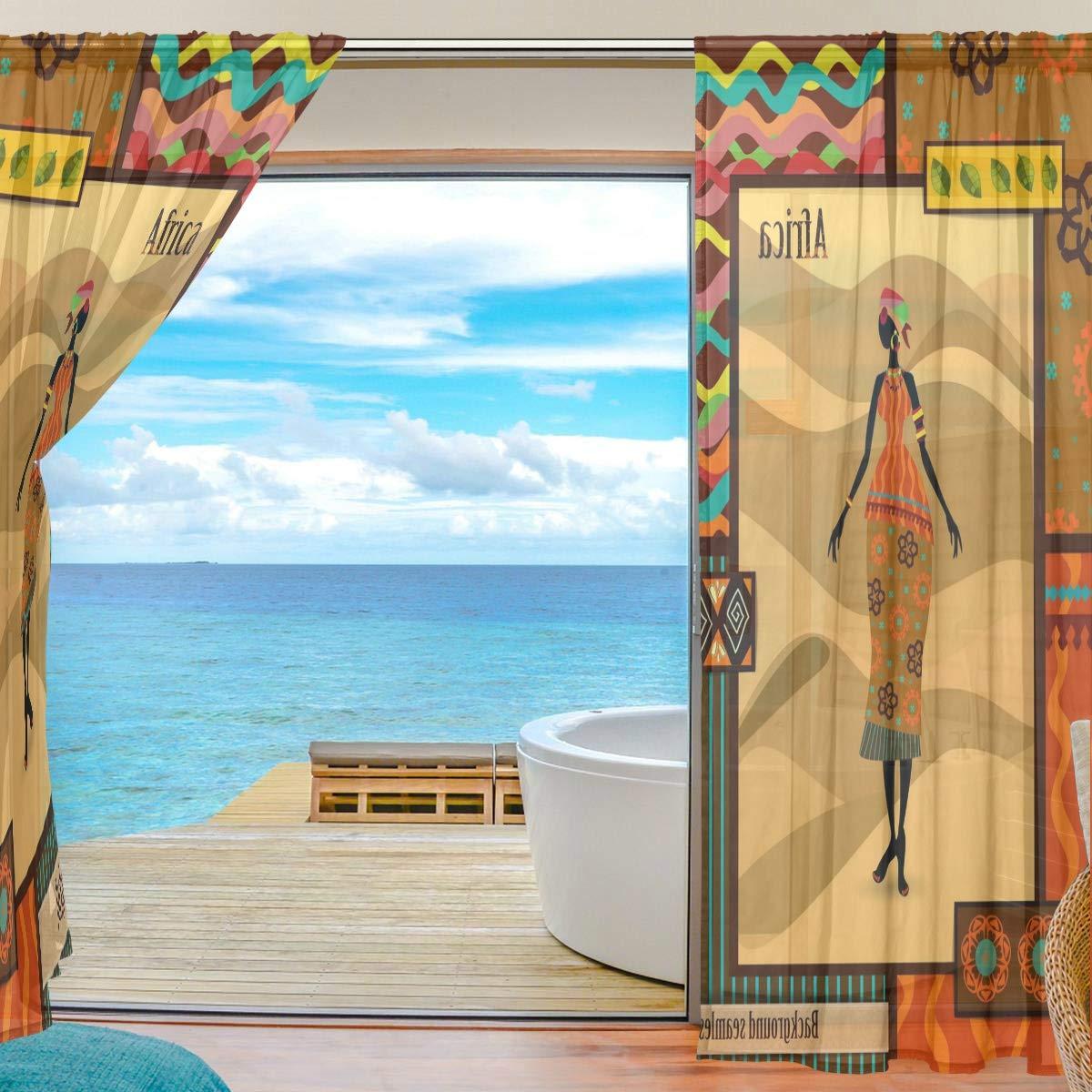 La Décoration De Fenêtre Polyester In Rideau De Fenêtre Isaao Style Africain  En Tulle Pour La Maison 55x84x2 Multicolore Le Salon La Chambre à Coucher