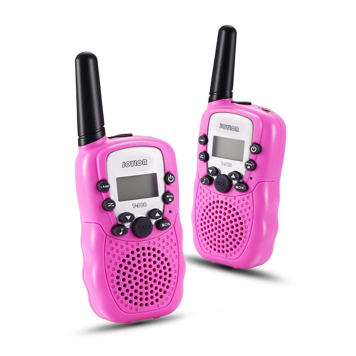 Joylor Durable Walkie Talkies Twin Toy for kids,Easy To Use and Kids Friendly 2-Way Radio 3-5KM Range Interphone Outdoor Camping Hiking - Pink