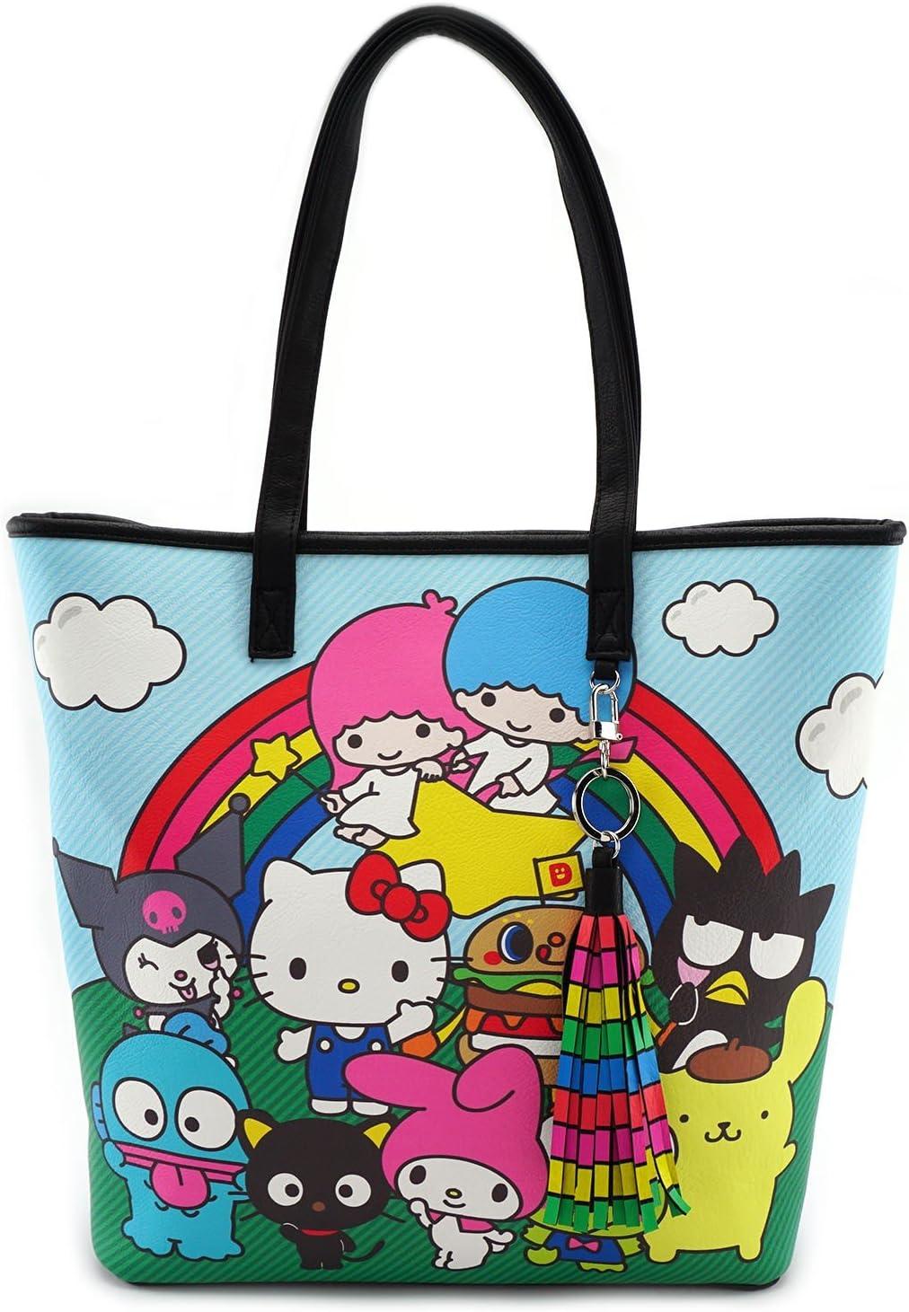 Loungefly x Hello Sanrio Characters//Rainbow Tote Bag