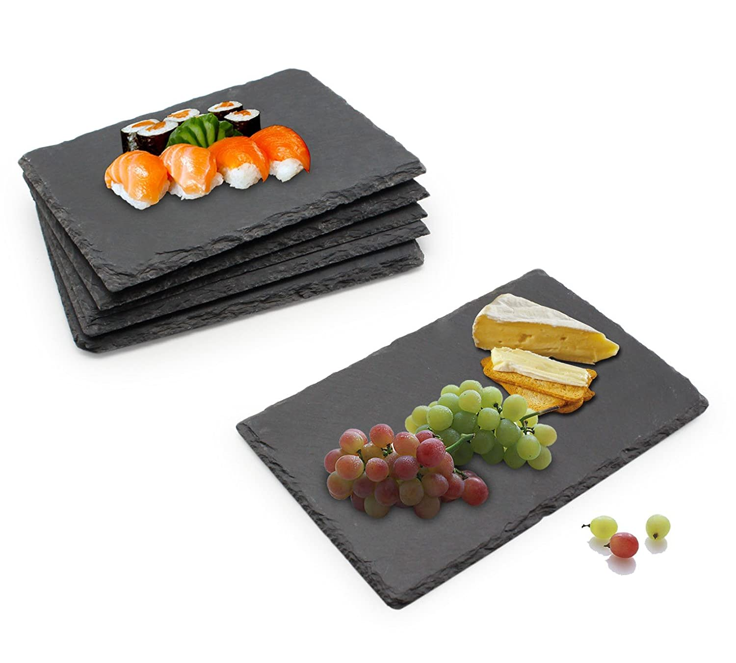 Megashef 6 Piece Set of Slate Food/Salad/Cheese Boards Plate for Dinner Parties and Entertaining Family Gift Idea Present Amazon.co.uk Kitchen \u0026 Home  sc 1 st  Amazon UK & Megashef 6 Piece Set of Slate Food/Salad/Cheese Boards Plate for ...