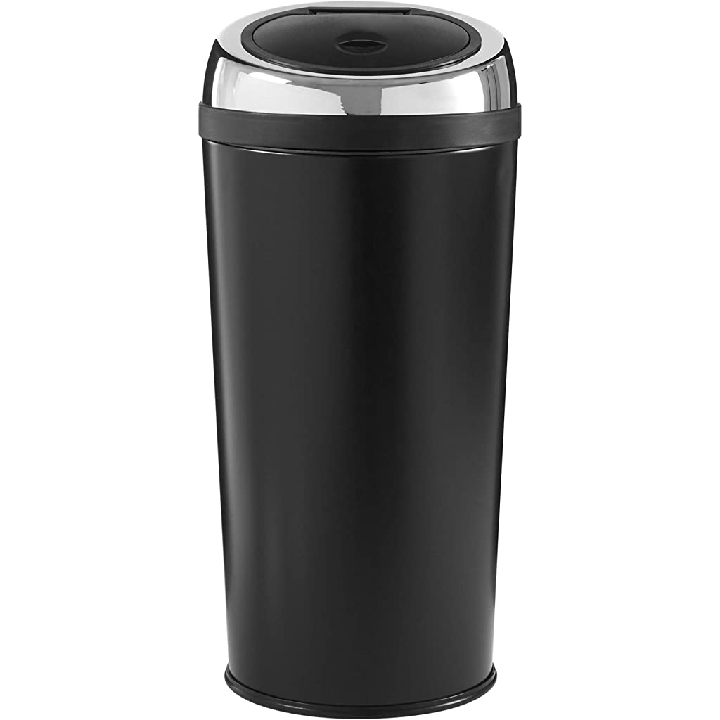 Premier Housewares Black Push Top Bin 30 Litre