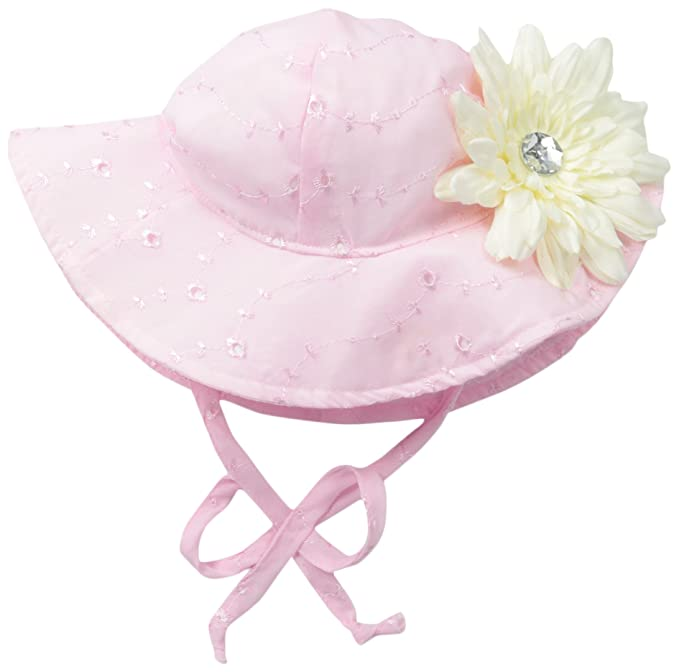 Flap Happy Baby Girls  Upf 50+ Floppy Hat with Flower 5190a366da5a