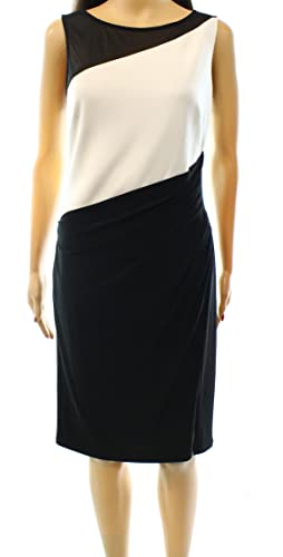 Lauren Ralph Lauren Women's Colorblock Sheath Dress Black 14