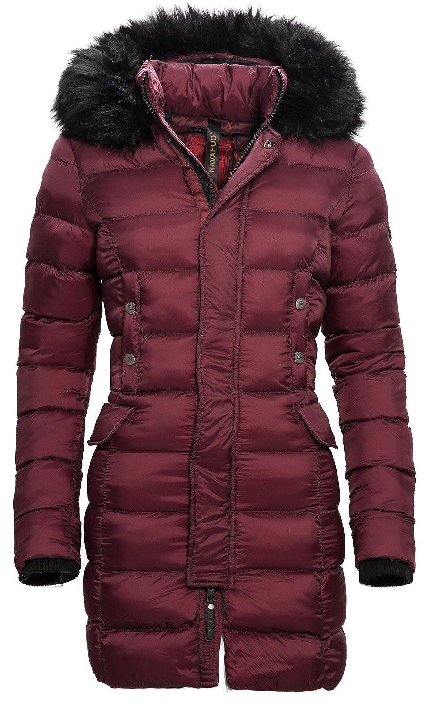 Navahoo Damen Winter Jacke Steppmantel Parka langer Mantel warm gefüttert B316