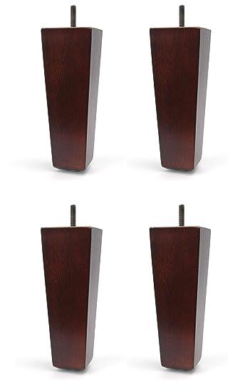 """6"""" Solid Wood Furniture Sofa/Chair/Ottoman Tapered Leg Dark Walnut  Finish -"""
