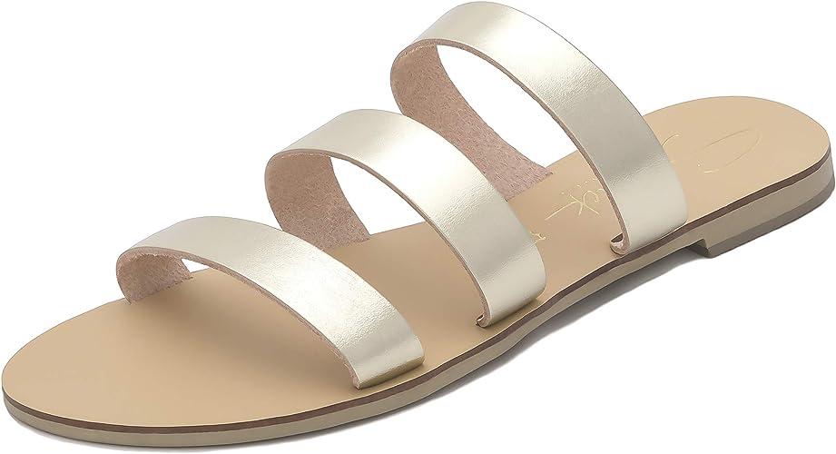 SCHMICK EOS Claquettes Cuir Femmes: Sandales Chaussures d
