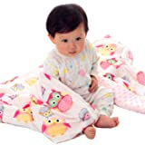 "Boritar Baby Blanket for Girls Soft Minky With Double Layer Dotted Backing, Lovely Pink Owls Printed 30""x40"""