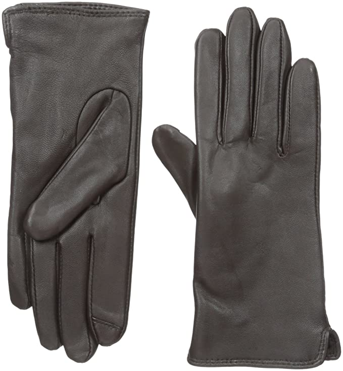 Vintage Style Gloves Touchpoint Womens Side Vent Leather Glove with Technology $39.16 AT vintagedancer.com