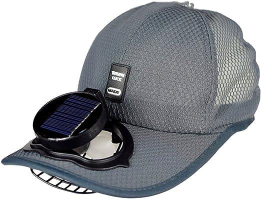 Ventilador Solar Gorra De Béisbol De Refrigeración USB De Carga Al Aire Libre Protección Solar Transpirable Gorra De Golf,Grey: Amazon.es: Hogar