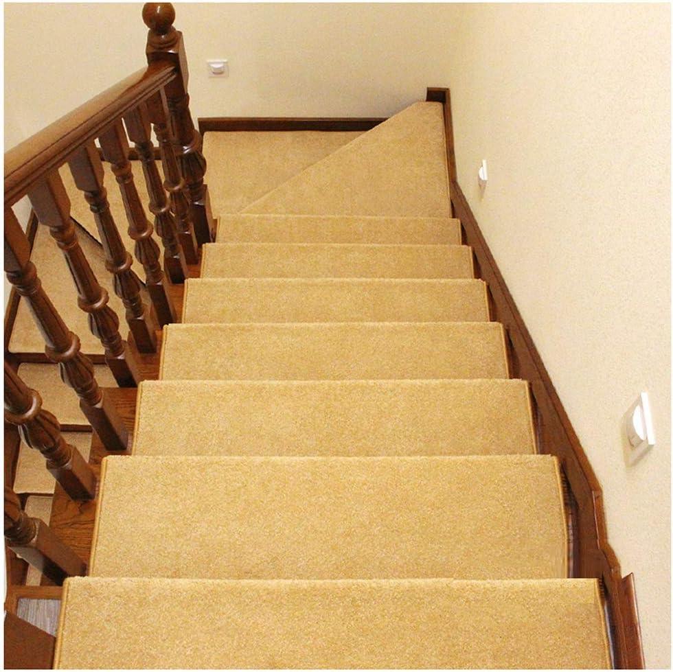 ZENGAI Alfombra de la Escalera Colección de peldaños de Escalera Interior Alfombra Antideslizante Antideslizante Peldaño de la Escalera 9 Colores (Juego de 5) (Color : B, Size : 100cmx24cm): Amazon.es: Hogar