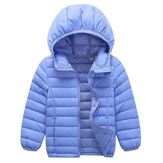 e27b77c9d7b7 ACMEDE - Enfant Garçon Fille Vêtement Manches Longues Manteau Doudoune  Blouson Compressible Ultra Légère À Capuche