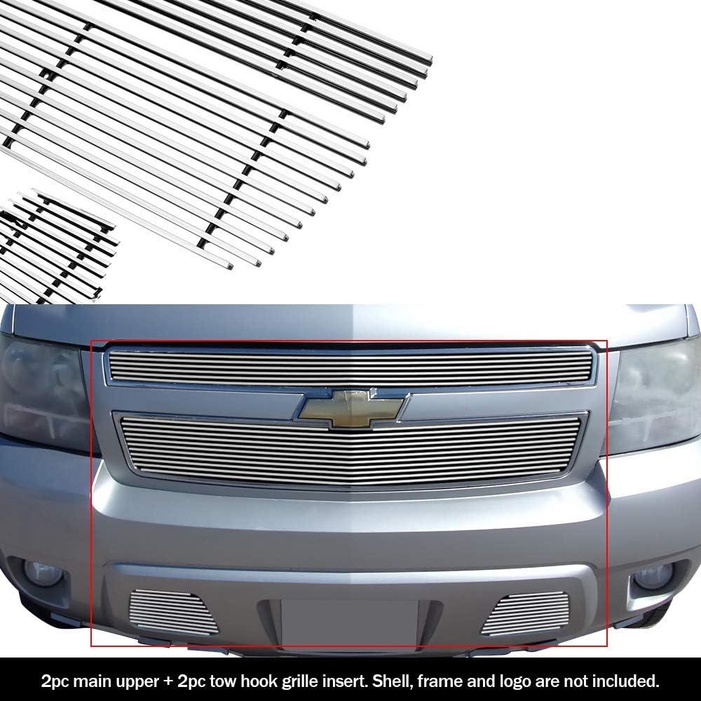 Fits 2007-2013 Chevy Avalanche//  Suburban// Tahoe Black Bumper Billet Grille