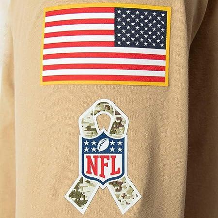 NFL Los Angeles RAMS Sudadera con Capucha de Manga Larga para Hombre, American Football Fan Sudaderas