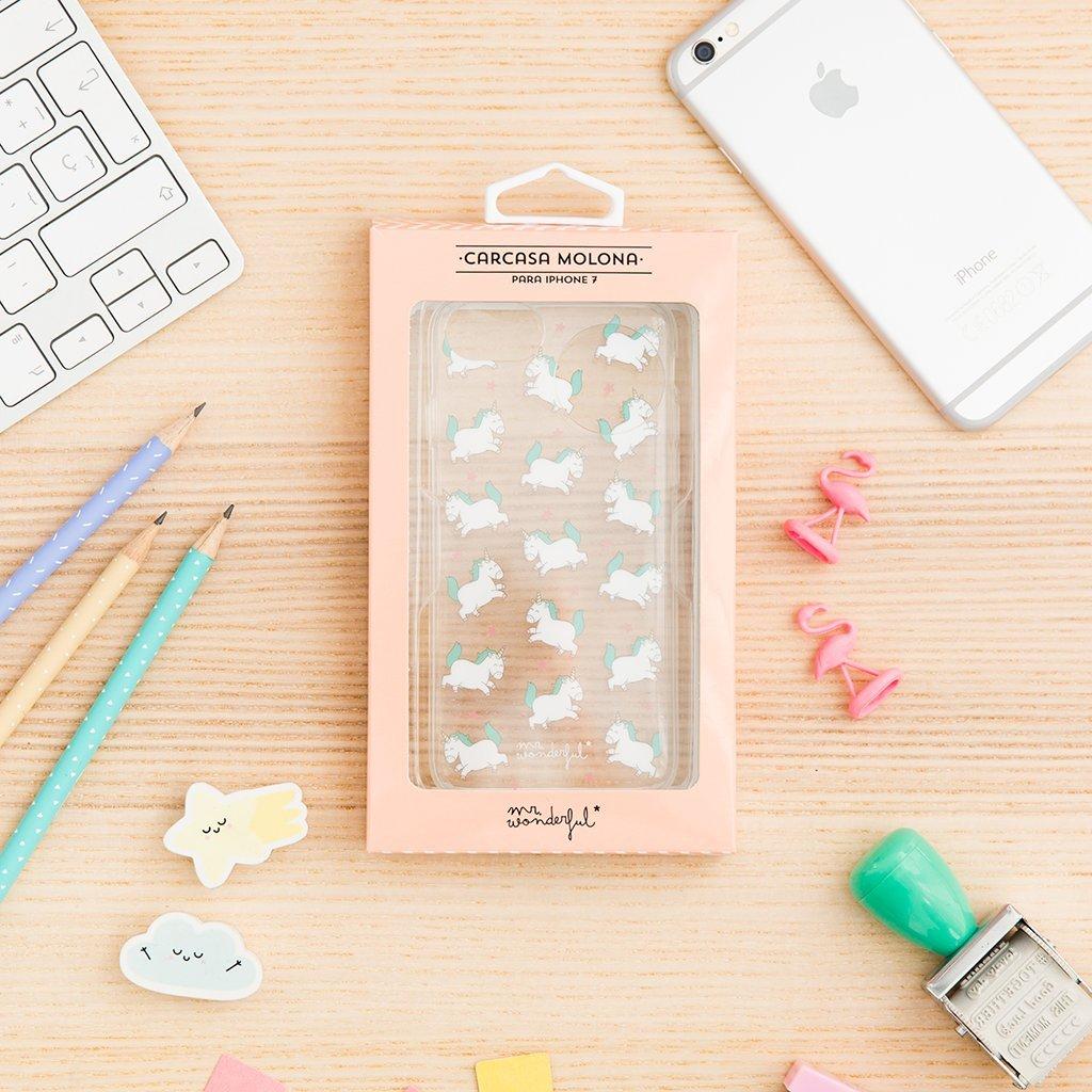 Mr. Wonderful MRCAR085 - Carcasa Funda para Apple iPhone 7, Unicornio