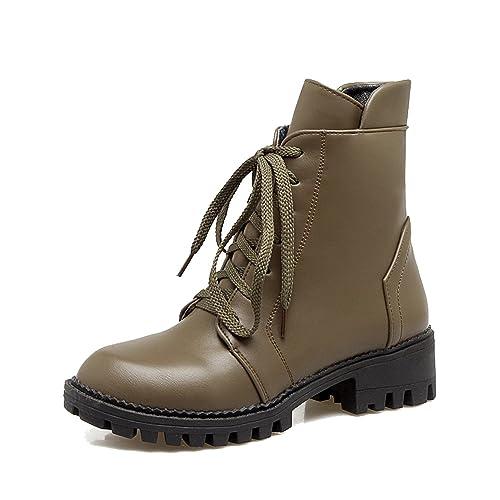 AgeeMi Shoes Donna Stringata Punta Chiusa Fibbia in Metallo Invernali  Stivali  Amazon.it  Scarpe e borse 8bb8dbce024
