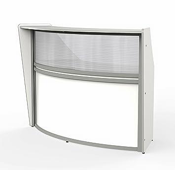 Amazon Com Linea Italia Curved Reception Desk Single Unit Clear