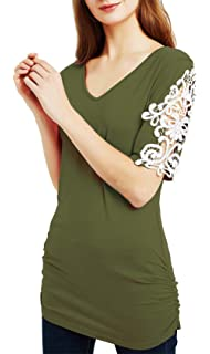 f64a3e2773185c DREAGAL Girls Cut Out Shoulder Tops Hole Back Tees Loose Fitting T ...