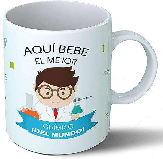 Planetacase Taza Desayuno Aquí Bebe el Mejor químico del Mundo Regalo Original Laboratorio Ceramica 330 mL: Amazon ...