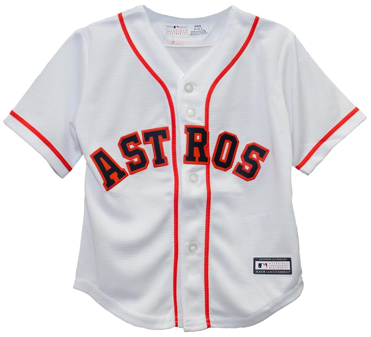the best attitude ee31f 4ea7c Outerstuff Houston Astros Home Cool Base Toddler Jersey