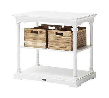 Amazon.com: novasolo mesa de cocina con 2 cajas, pequeño ...