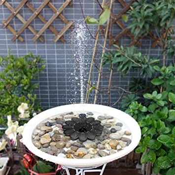 Bulary Solar Power Wasser Brunnen Garten Schwimmende Pumpe Pool