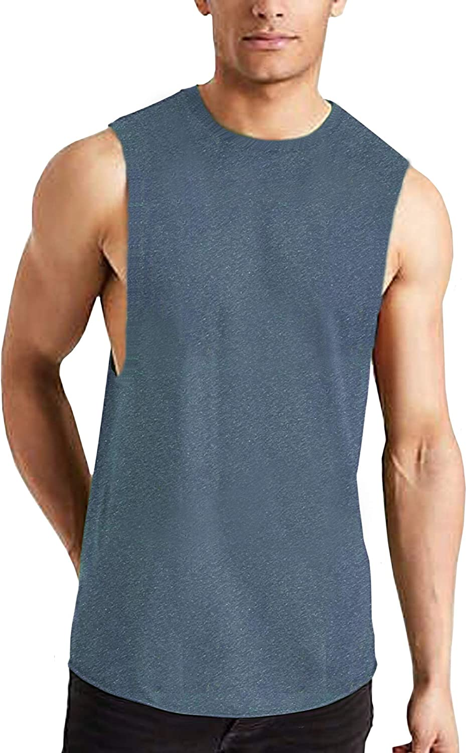 Pacinoble Mens Gym Shirts Bodybuilding Stringer Tank Top Muscle Workout Shirt Fitness Sleeveless Vest