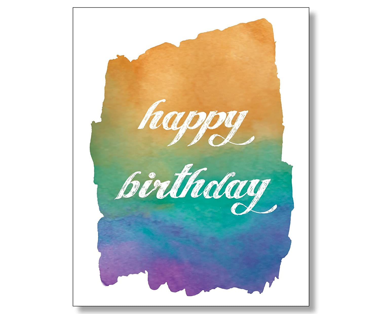 Amazon Watercolor Design Happy Birthday Card Handmade