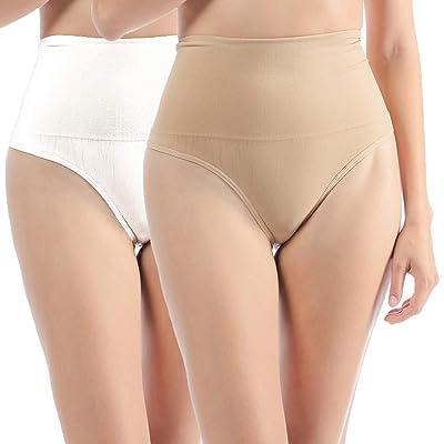 2 Unidades Libella Tanga String Body Faja Modeladora Reductora sin costuras para Mujeres 3601 Beige+Blanco 2XL: Ropa y accesorios