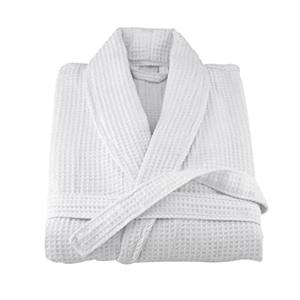 Ariella Kingh 100% Cotton Luxury Hotel Spa Quality Waffle Weave Bathrobe  Dressing Gown- Robe  Amazon.co.uk  Kitchen   Home 5a9db8101