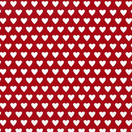 Gift Tissue Paper Foiled Red Hearts on White Plain Red Sheets Parcel Wrap 5 sheet pk Gift Bag Packing Present Wrap Birthday Gift Wrapping