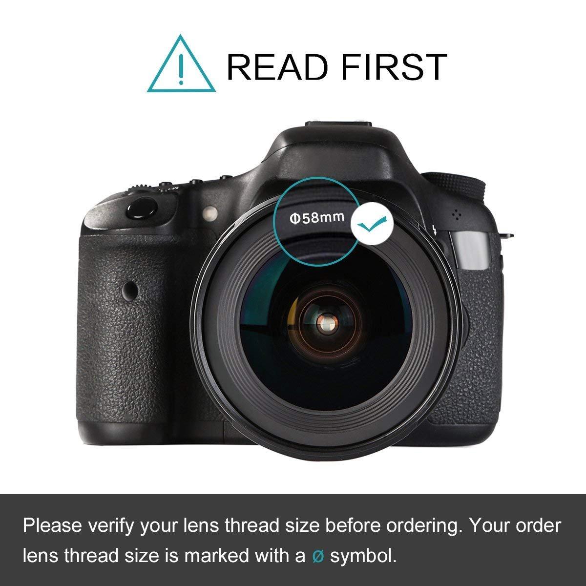 Ultra delgado Fader Variable ND2 a ND400 Densidad neutra Filtro ND ajustable para lente de c/ámara con filtro de 95MM Tama/ño de rosca