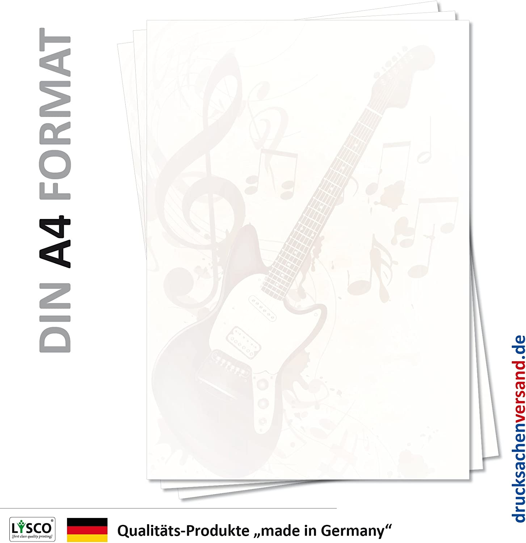 Diseño de 5103, DIN A4, 25 hojas de papel de carta (Música) S de ...