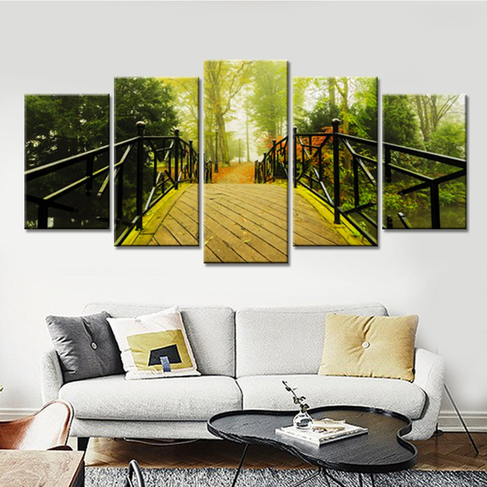 Amazon.com: Modern HD Printed Modular Pictures Frame Canvas 5 Panel ...