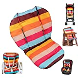 Seat Liners, Ywoworld Rainbow Waterproof Seat Liner Mat Cushion Pad Baby Stroller/Car / High Chair Seat Cushion Liner Mat Pad Cover Protector Rainbow Striped Breathable Water Resistant