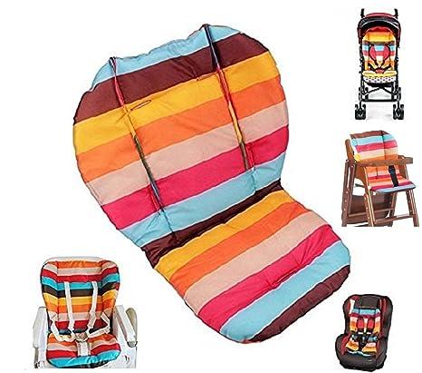 ywoworld bebé silla de paseo/asiento de coche/de alta silla cojín – alfombrilla de maletero, pantalla RAINBOW rayas transpirable resistente al agua