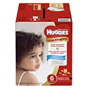 Huggies Little Snugglers Baby Diapers, Size 6 (fits 35+ lbs.), 100 Count, Economy Plus Pack (Packaging May Vary)