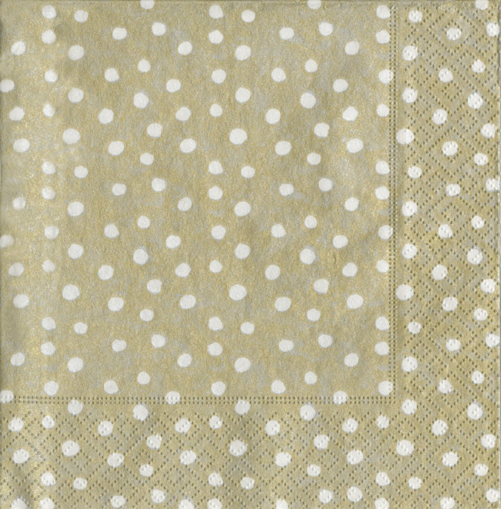 Platinum Caspari Entertaining Dots Guest Towels Pack of 15