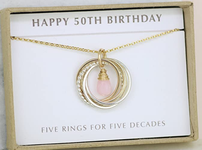 Amazon 50th Birthday Gift October Birthday Gift 50th Pink