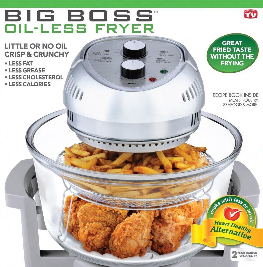 Big Boss Oil-less Air Fryer, 16 Quart, 1300 watt, Silver