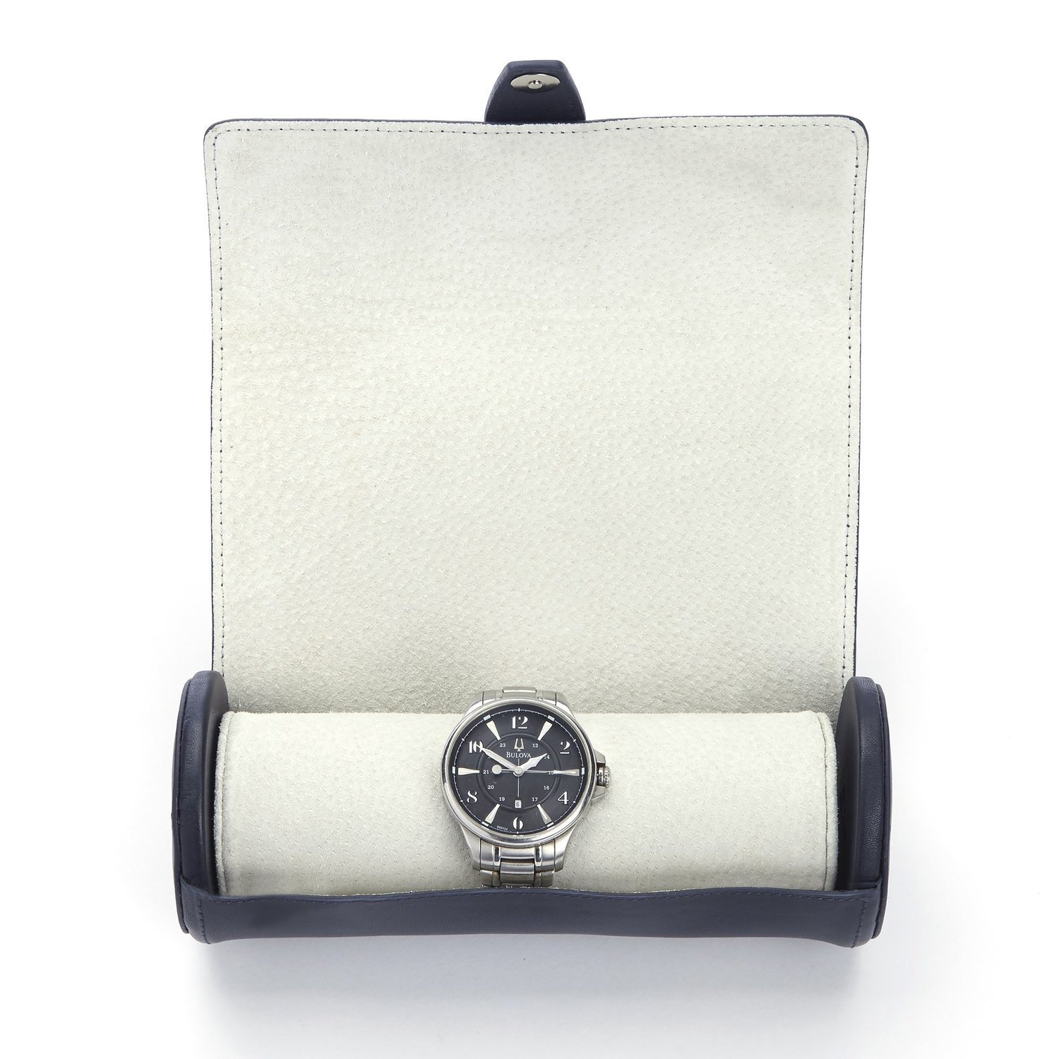 Royce Leather Executive Travel Watch Carrying Case in Genuine Leather with Su...