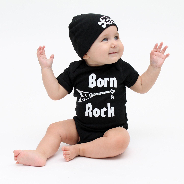 Amazon.com: Crazy bebé ropa color blanco Scribble cráneo ...