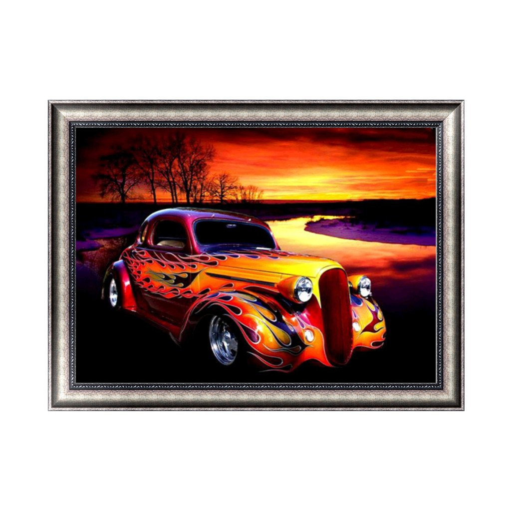 Lergo 5D Diamond Embroidery Painting DIY Car Painting Cross Stitch Home Office Decor