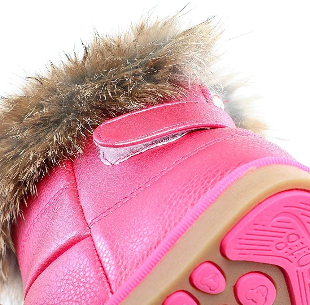 Snow Boots Toddler Girls Winter Warm Boots for Kids Soft Outdoor Shoes
