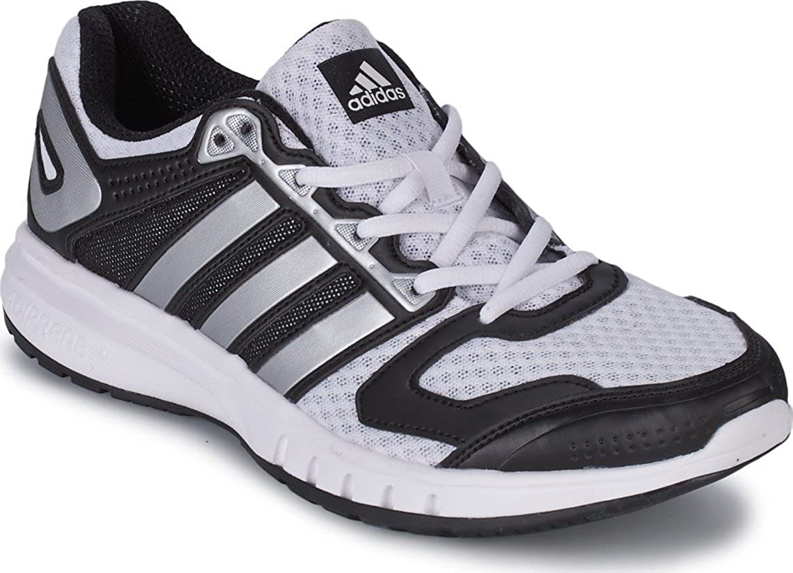 superficie Mirilla distrito  New Adidas Galaxy White Mens Adiprene, Running Trainers Gym Athletic Lace  Shoes UK8.5/US9/EUR 42 2/3: Amazon.co.uk: Shoes & Bags