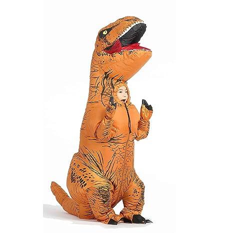 Traje inflable de T-Rex para el cabrito Blow Up Dinosaurio Vestido ...