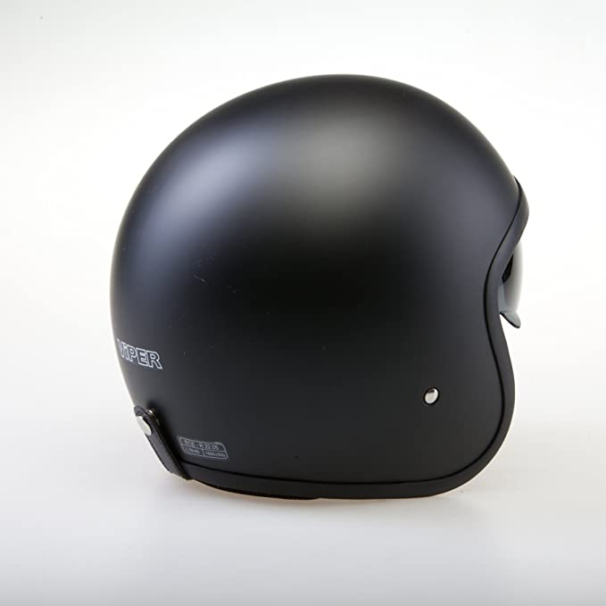 Amazon.es: VIPER V06 RETRO URBAN JET SCOOTER INTEGRADO VISERA CASCO ABIERTO NEGRO MATE (XS (53-54cm))