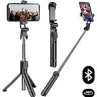 自撮り棒 Bluetooth セルカ棒 無線 軽量 三脚/一脚兼用 Bluetoothリモコン 持ち運びに便利 iPhoneX iPhone8 iPhone7 iPhone/Android/Sony スマホ等対応