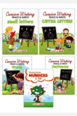Cursive Writing Books - 2 (Set of 5 Books) (Practice) - Small Letters, Capital Letters, Words, Sentences, Number Writing 1-50 Paperback